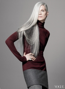 Vogue Magazine Grey Hair Color Picture